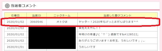毎日1,000円ver.5 コメント