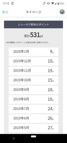 レシーカ実績(2020年1月)