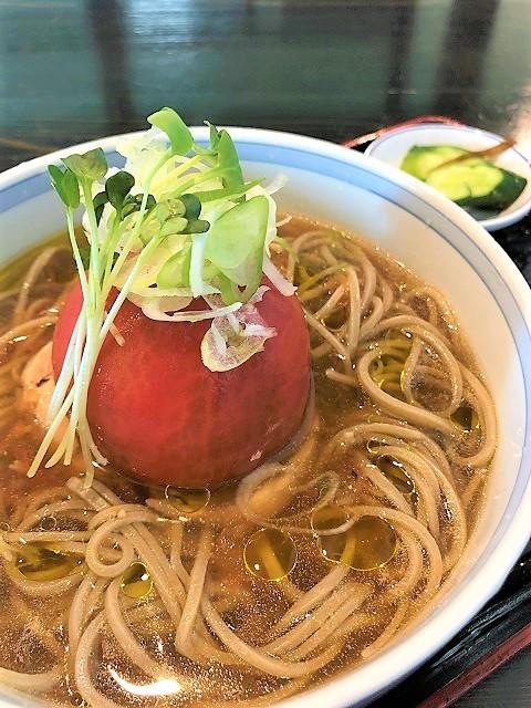 大蔵山蕎麦 ねぎぼうず 大蔵のトマトと十割そば2