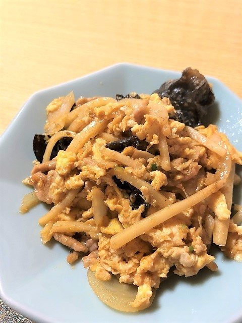 中華料理 桃園 玉子と孟宗とキクラゲの炒め