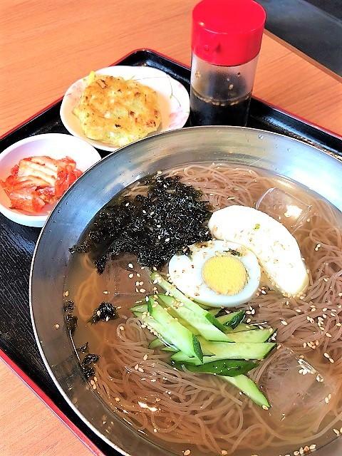 韓国焼肉 韓国料理専門店 くま3びき 冷麺_チヂミ定食