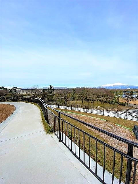 飯森山公園 鳥海山