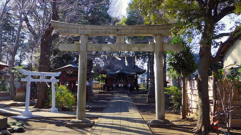 「中嶋神社の富士塚」