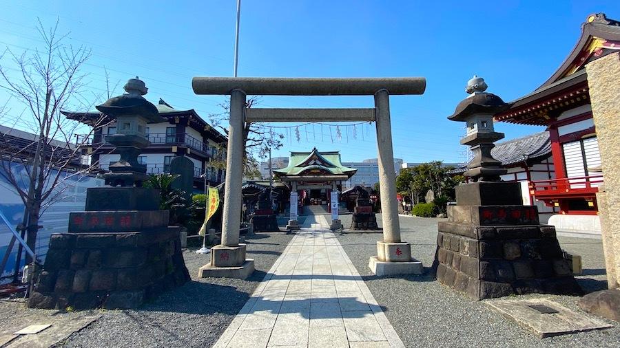 「羽田神社富士塚」1
