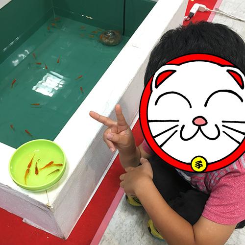 ヤマトヤシキの催し「夏の水族館」でわが子と遊ぶ♪②