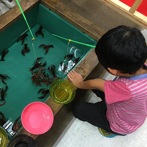 ヤマトヤシキの催し「夏の水族館」でわが子と遊ぶ♪③