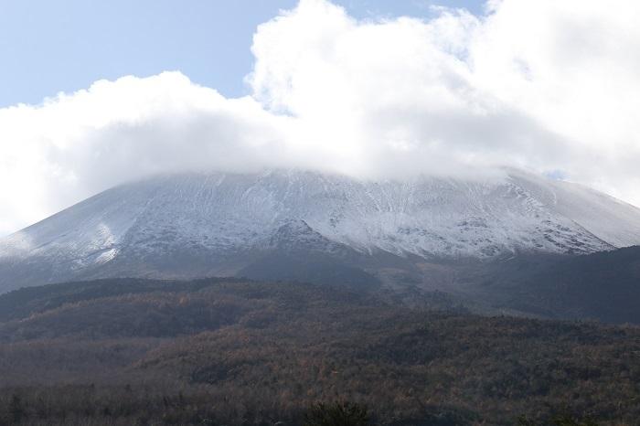 20191112初冠雪の浅間山
