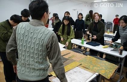 東京藝術大学 金唐革紙講義
