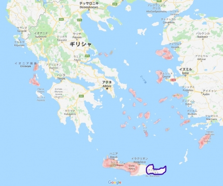 ギリシャ旅行地図7月
