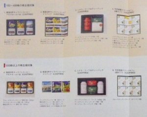 ユニマット株主優待カタログ2019の1