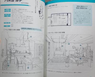 マンガ背景資料 キャラの部屋とインテリア (7)