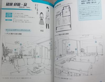 マンガ背景資料 キャラの部屋とインテリア (9)