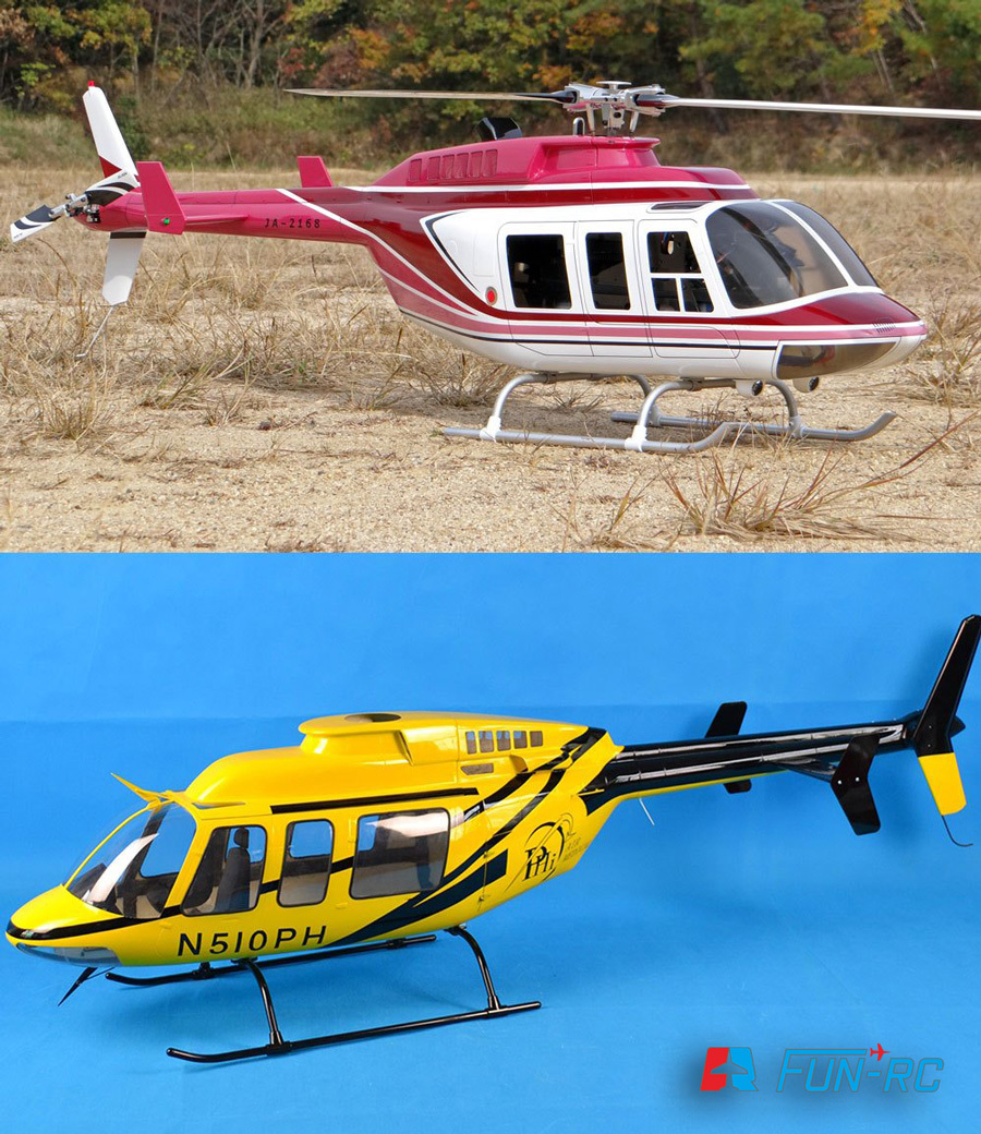 FUN-RC-Bell407とF社Bell206L