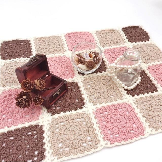 手編み雑貨,はなはんど,HanahanD,モチーフ繋ぎ,ドイリー,花柄,ウール,冬,バレンタイン,ホワイトデー