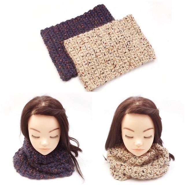 手編み雑貨,はなはんど,スヌード,ネックウォーマー,バレンタイン,ギフト,男女兼用,冬小物