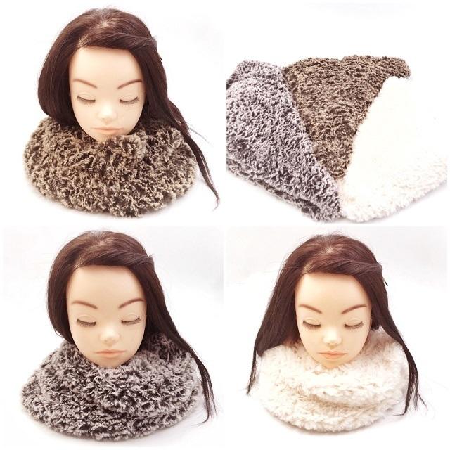手編み雑貨,HanahanD,エコファー,冬のファッション小物,スヌード,ファー,暖かグッズ