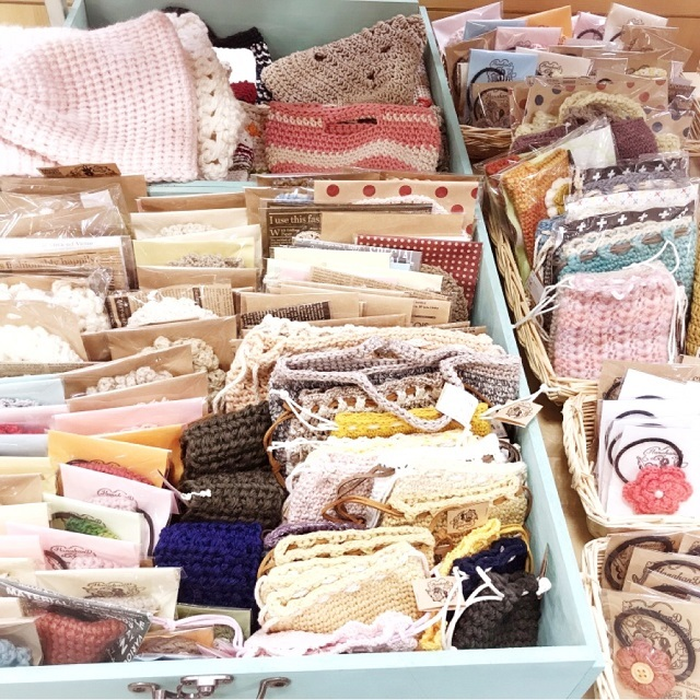 手編み雑貨,HanahanD,シャンブレー,甲賀市,平和堂水口店,水口,委託販売,フリマ,激安セール