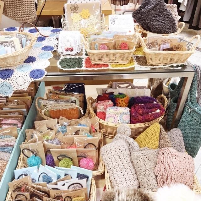 手編み雑貨,HanahanD,シャンブレー,平和堂水口店,手編み,雑貨,委託販売,セール中