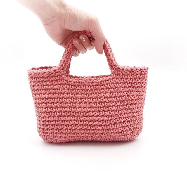 手編み雑貨,HanahanD,コットンバッグ,Kiwami,ハンドバッグ,年中素材