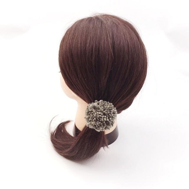 手編み雑貨,HanahanD,ポンポン,大人ポンポン,冬のヘアアクセサリー,親子コーデ,ペアコーデ