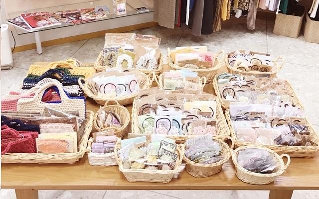 手編み雑貨 HanahanD レース編み かぎ針編み 委託 滋賀県 甲賀市 水口 アルプラザ 平和堂 シャンブレー