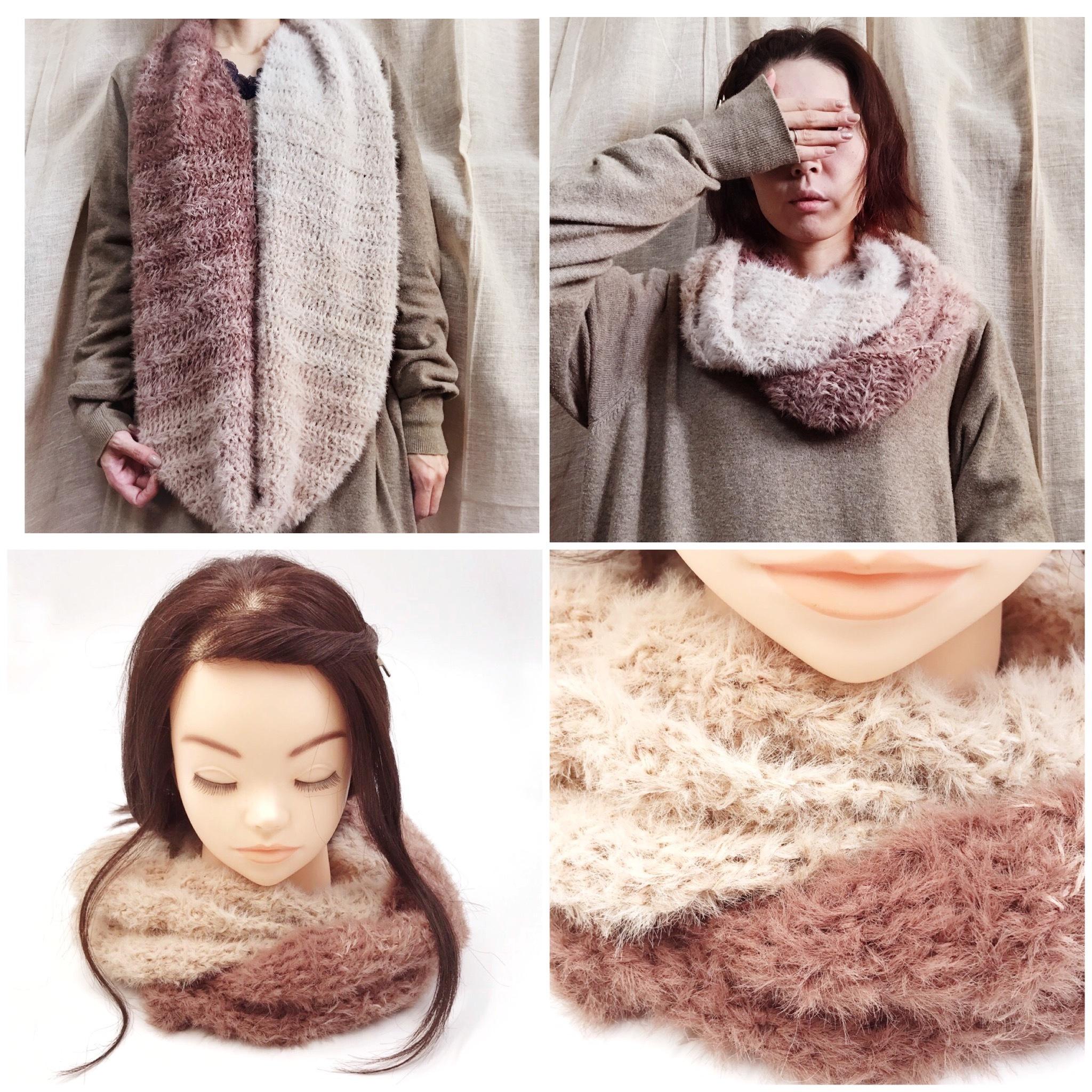 手編み雑貨,HanahanD,スヌード,肌ストレスフリー,冬小物,ファッション小物,あったかグッズ