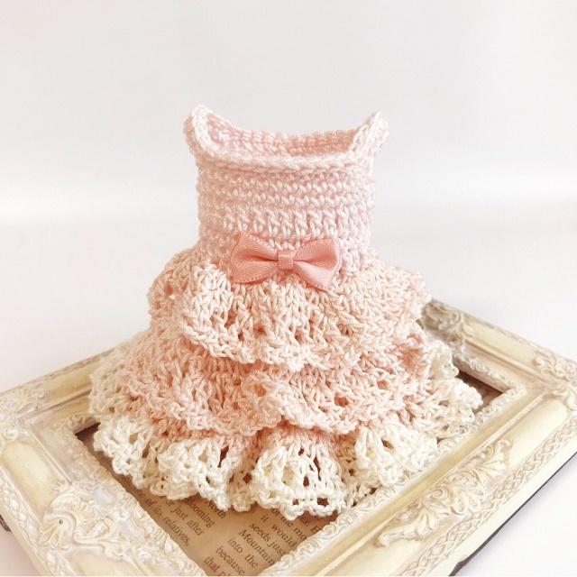 手編み雑貨,HanahanD,ドール,ドレス,ミニチュア,レース