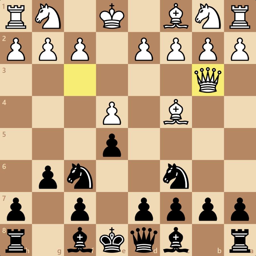 5.Qb3はブランダーだったが咎められず