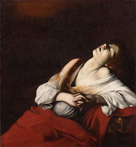 カラヴァッジョ「法悦のマグダラのマリア」1606