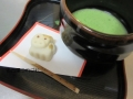 干支の和菓子とお抹茶