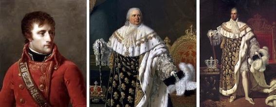 ナポレオン、ルイ18、シャルル10