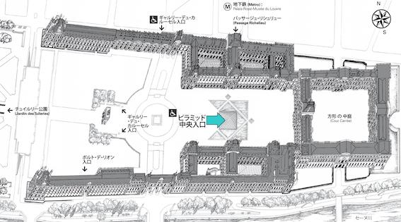 ルーヴル美術館入口 図