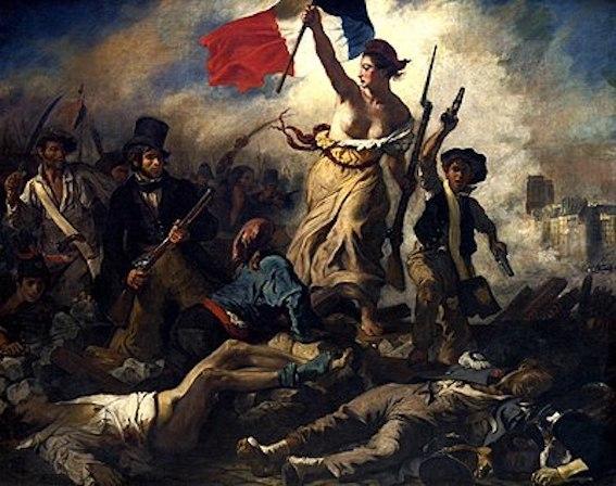 民衆を導く自由の女神 写真