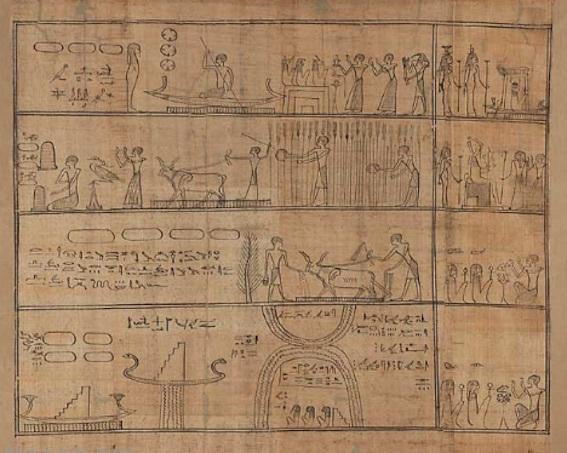 死者の書 パピルス断片 写真