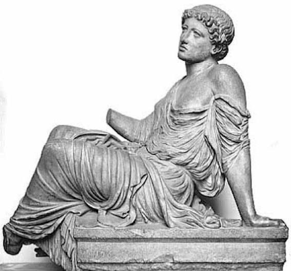 座った女性、通称「バルベリーニの懇願する女」 写真