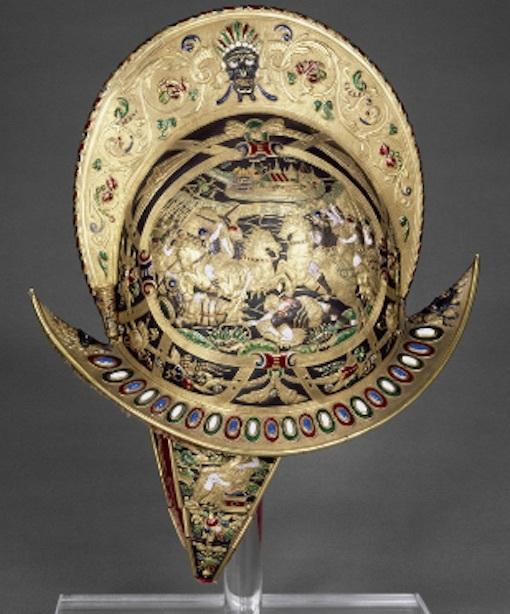 国王シャルル9世の兜 写真