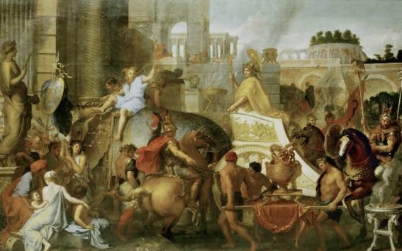 シャルル・ル・ブラン 《アレクサンドロス大王のバビロニア入城》
