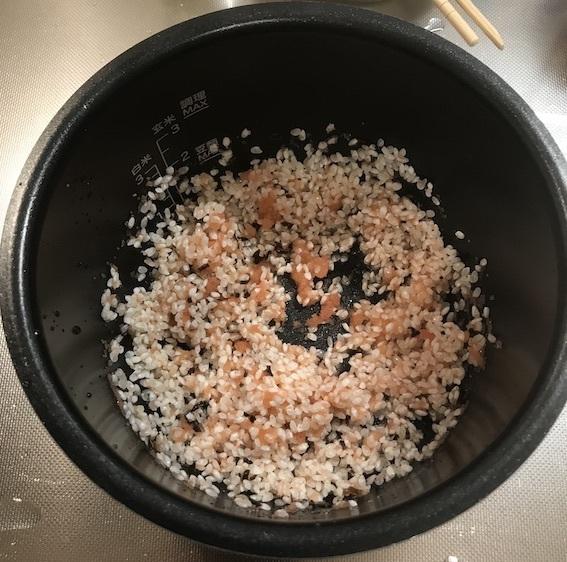 炊飯 かき混ぜ
