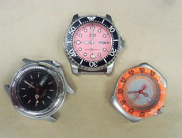 1-三種類の防水時計
