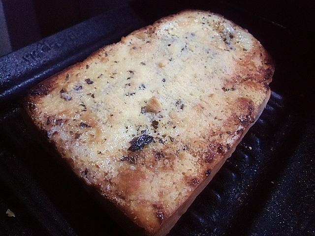 粉チーズを振って焼きました