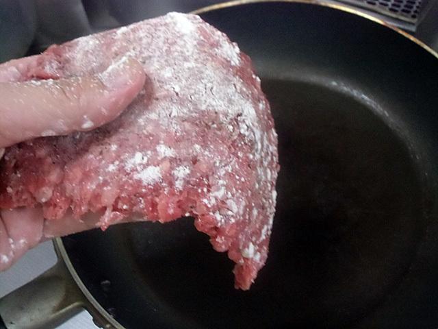 伸した挽き肉