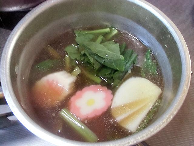 小松菜と蒲鉾