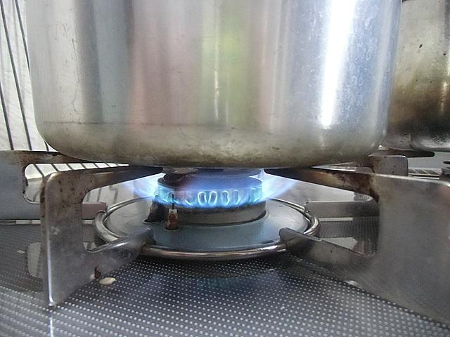 強火で沸かし