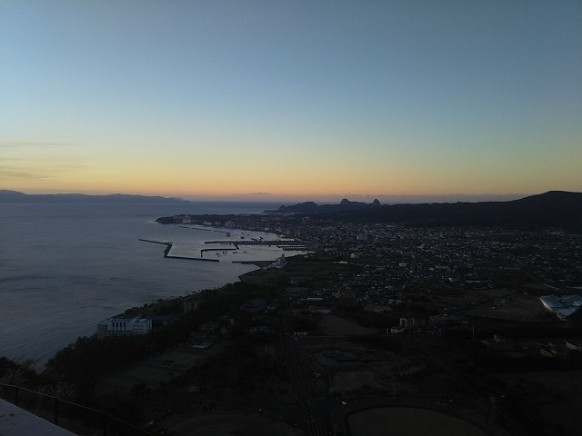 魚見岳から見た指宿市