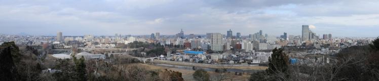 5Z2A8550 青葉城址から仙台市内S