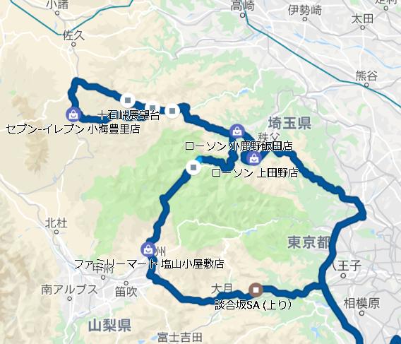 十石峠コース全体図