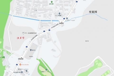 Google map 至来川 20190813
