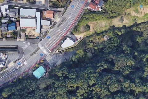 Google map 至来川空中写真 20190813