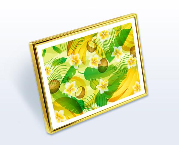 風水果実アートプレミアム バナナ&ヤシ&フランジパニ