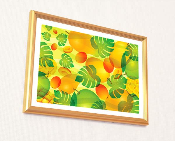 風水果実アートマンゴー&モンステラ